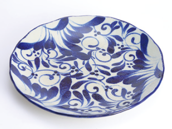 nife blue arabesque プレート 30cm