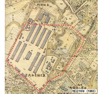 陸軍参謀本部発行五千分一東京図